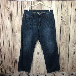 Lucky Brand Straight Leg Dark Wash Jeans Size 38